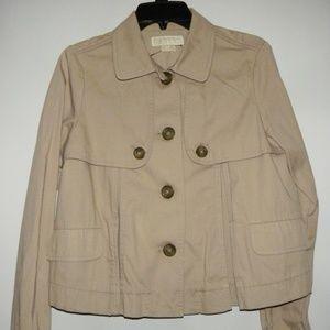 MICHAEL KORS Tan Cotton Jacket M